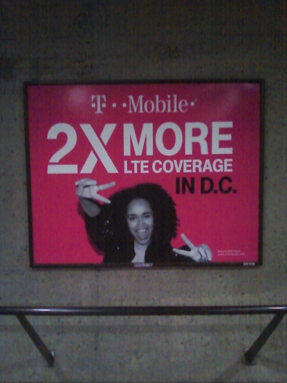 WMATA/DC Metro T-Mobile Advertisement promoting two times as much 4G/LGE coverage when it seems they can barely manage 2G in most Metro stations. For additional details, please visit www.wirelessnotes.org.