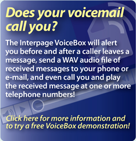 interpage voicemail service which offers notification of hangup calls and all other messages received with callerid